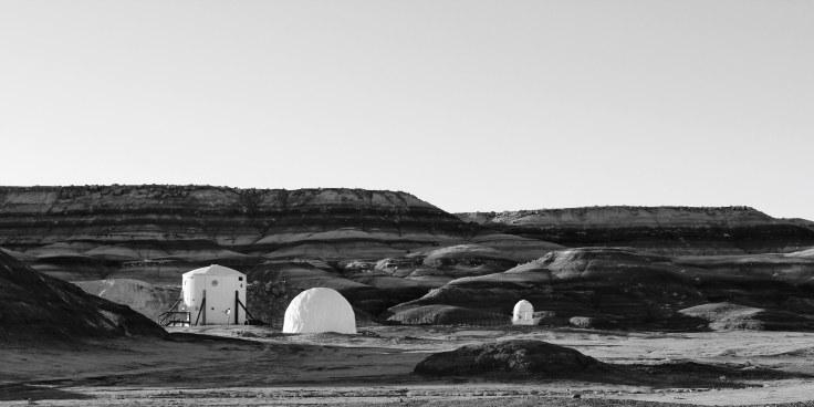 Una stazione sperimentale nel deserto
